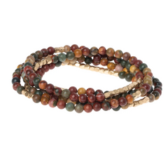 Wrap Bracelet/Necklace - Majestic Jasper - Stone of Serenity