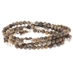 Wrap Bracelet/Necklace - Desert Jasper - Stone of Vibrancy