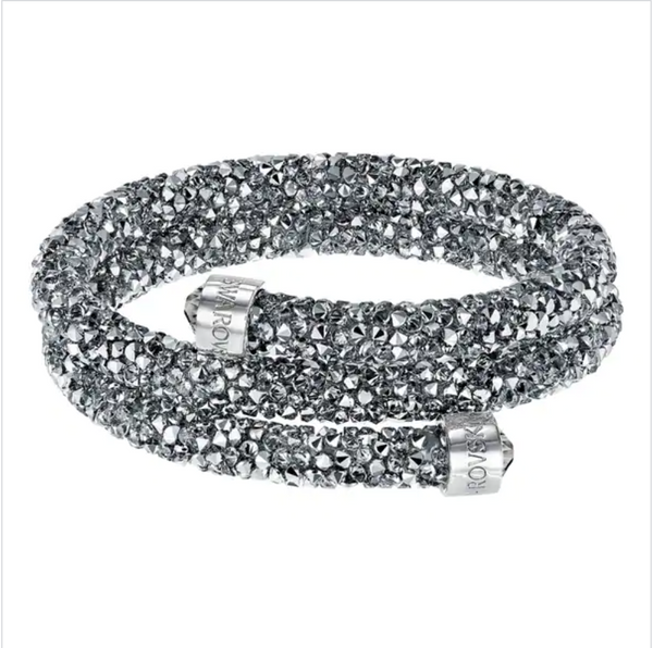 Swarovski Double Bangle Crystaldust - Grey