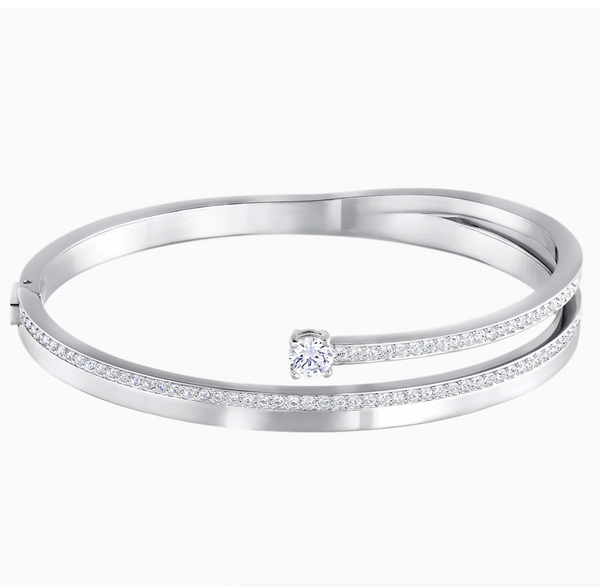 Swarovski Fresh Bangle - Rhodium