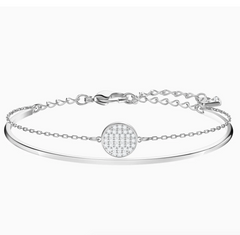 Swarovski Ginger Bangle - Rhodium