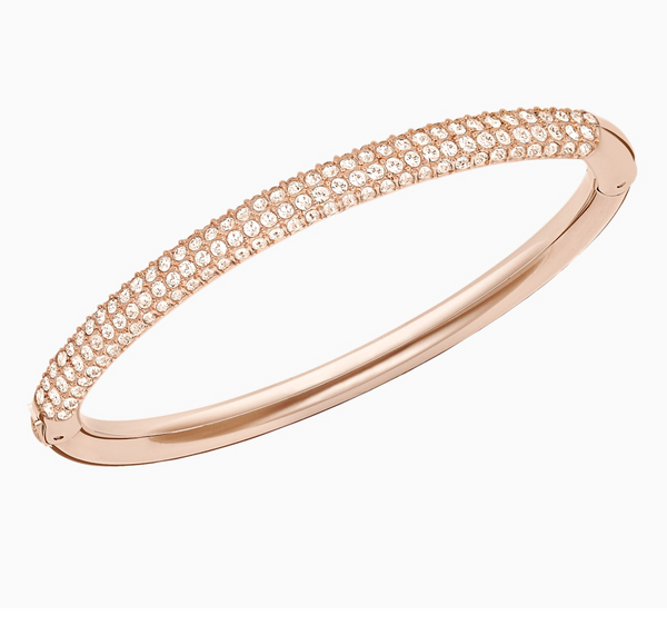 Swarovski Stone Bangle - Rose Gold