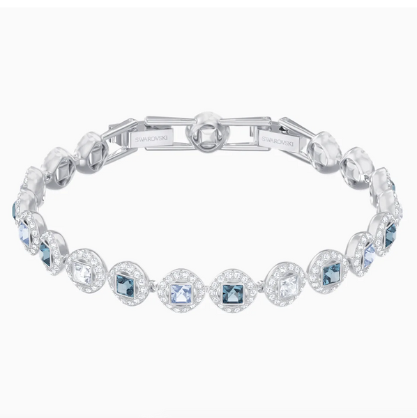 Swarovski Angelic Square Bracelet - Silver + Blues