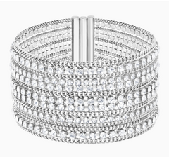 Swarovski Fit Wide Bangle - Silver