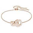 Swarovski Hallow Bracelet - Rose Gold