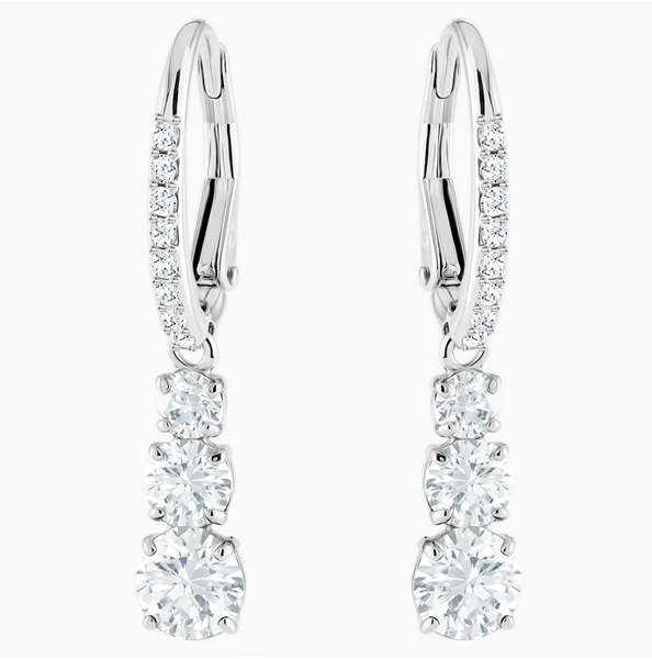 Swarovski Trilogy Dangle Earring - Silver