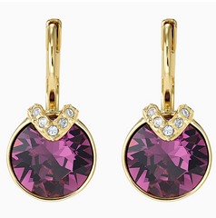 Swarovski Bella V Earring - Gold + Purple