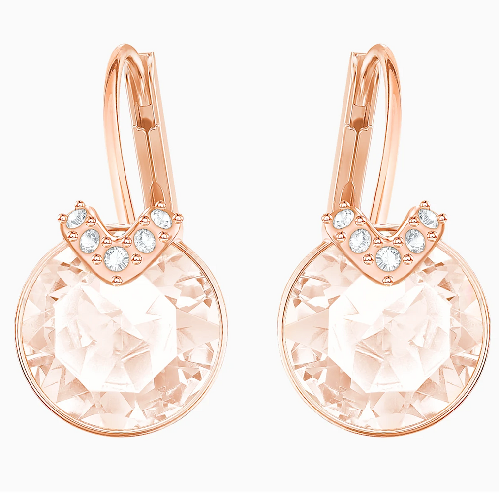 Swarovski Bella V Earring - Rose Gold + Pink