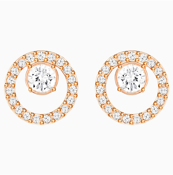 Swarovski Creativity Circle Earring Small - Rose Gold