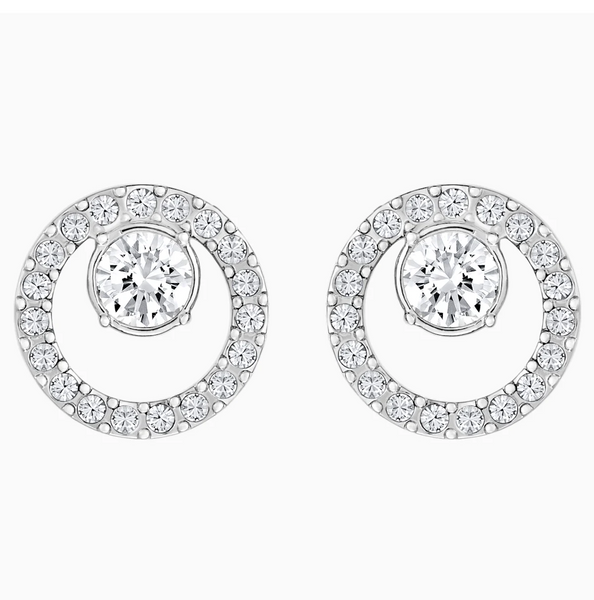Swarovski Creativity Circle Stud - Silver