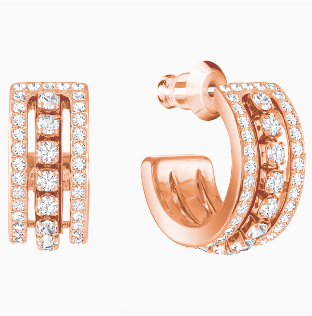Swarovski Further Studs - Rose Gold