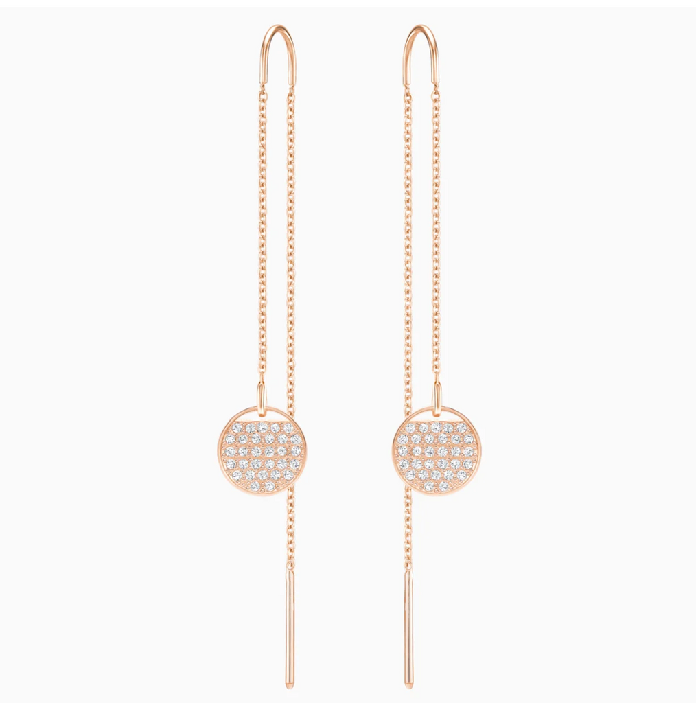 Swarovski Ginger Chain Earrings - Rose Gold