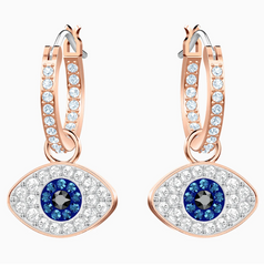 Swarovski Evil Eye Earrings - Rose Gold