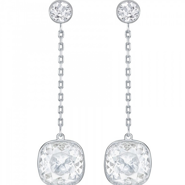 Swarovski Lattitude Earrings - Silver