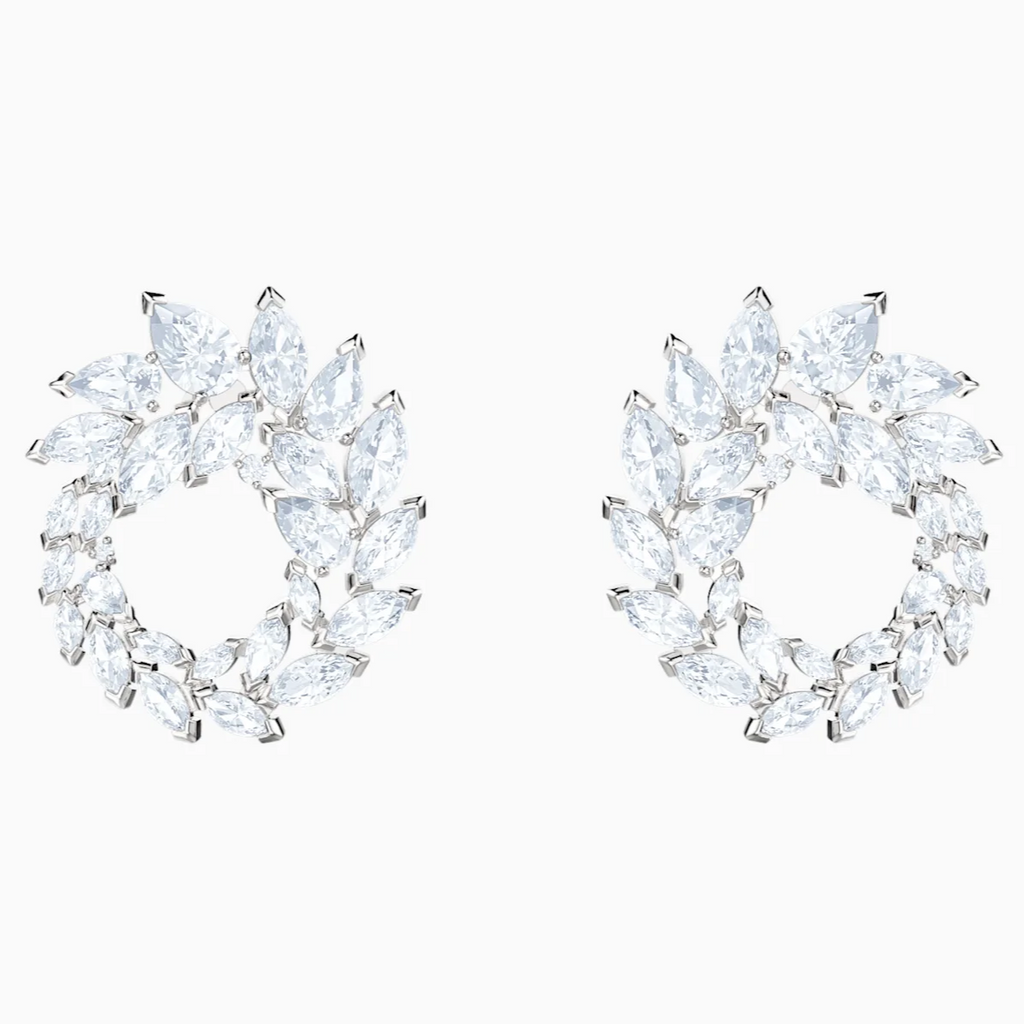 Swarovski Louison Wreath Earrings - Silver