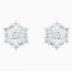 Swarovski Magic Studs - Silver + White
