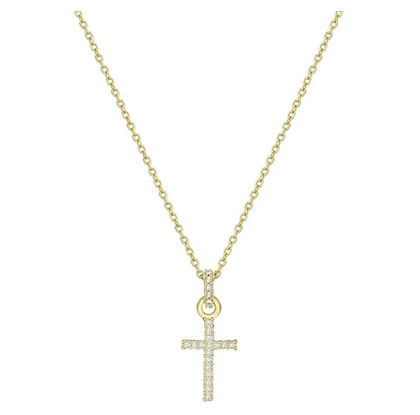 Swarovski Mini Cross Necklace - Gold