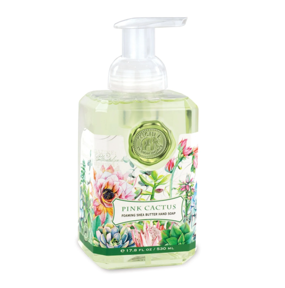 Michel Designs Pink Cactus Foaming Hand Soap