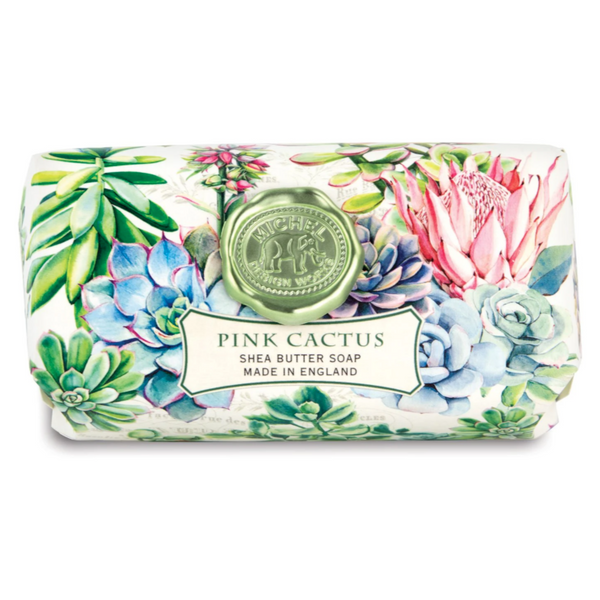 Michel Designs Pink Cactus Large Bath Soap