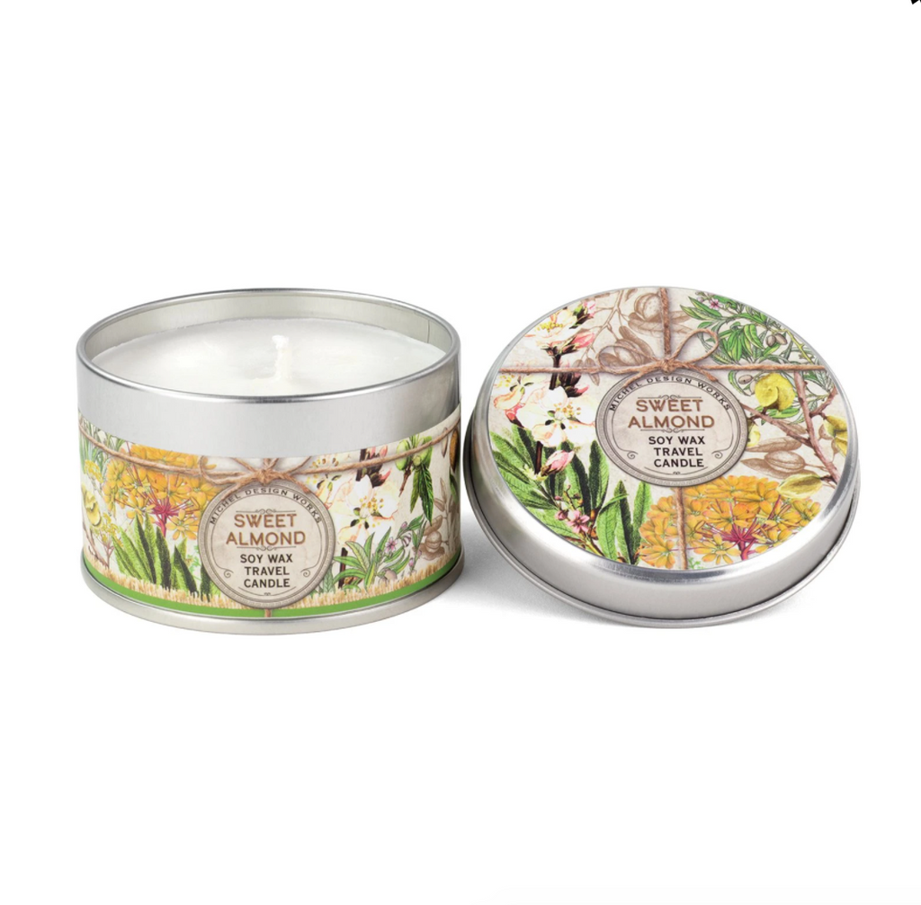 Michel Designs Sweet Almond Travel Candle