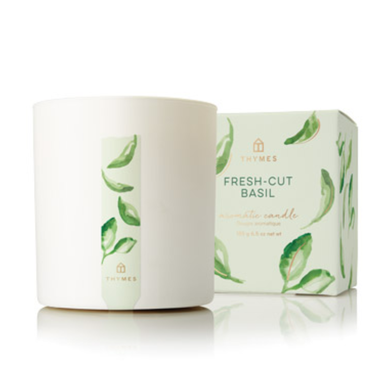 Thymes Fresh Cut Basil Candle