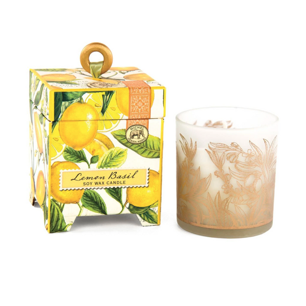 Michel Designs Lemon Basil 6.5oz Candle