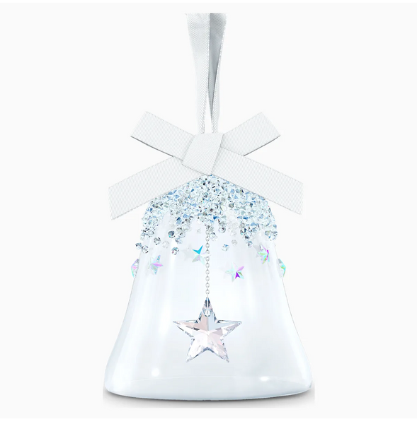 Swarovski Bell Ornament With Star - Small