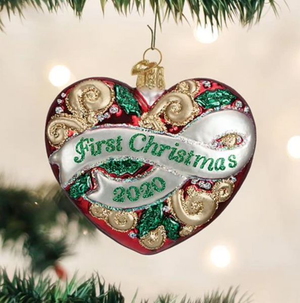 Old World Christmas 2020 First Christmas Ornament