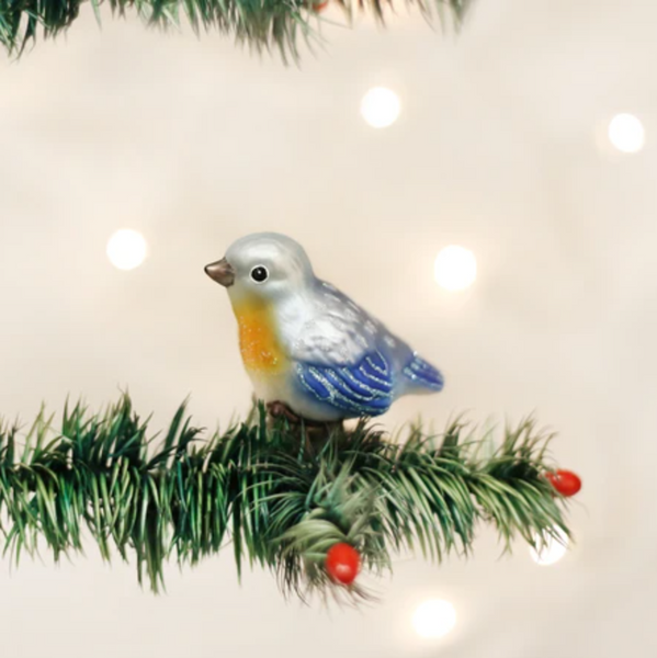 Old World Christmas Baby Bluebird Ornament