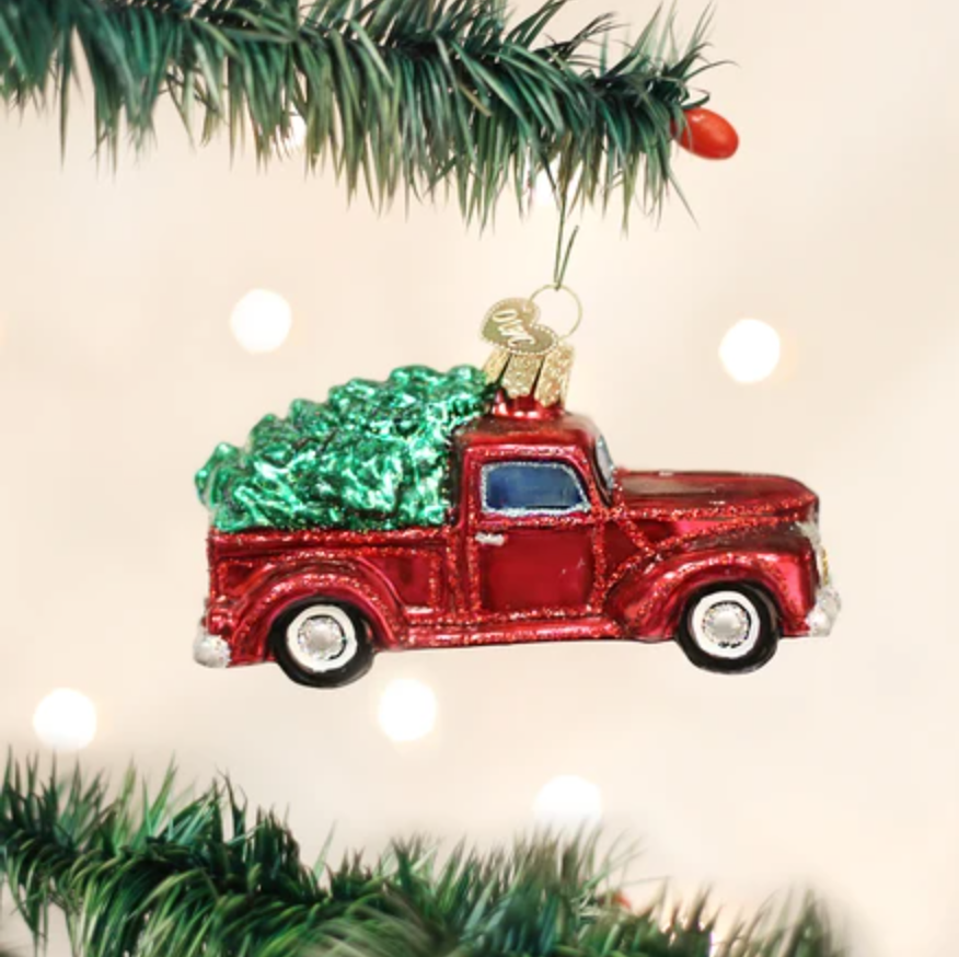 Old World Christmas Truck With Tree Ornament
