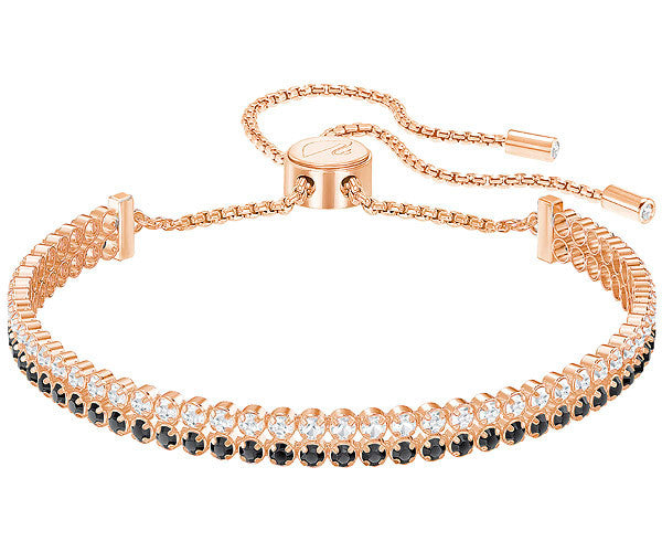 Swarovski Subtle Double Bracelet - Black & Gold