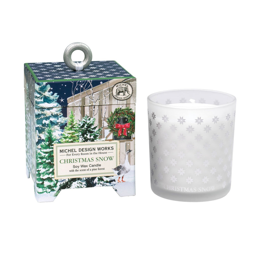 Michel Designs Christmas Snow 6.5 oz. Soy Wax Candle