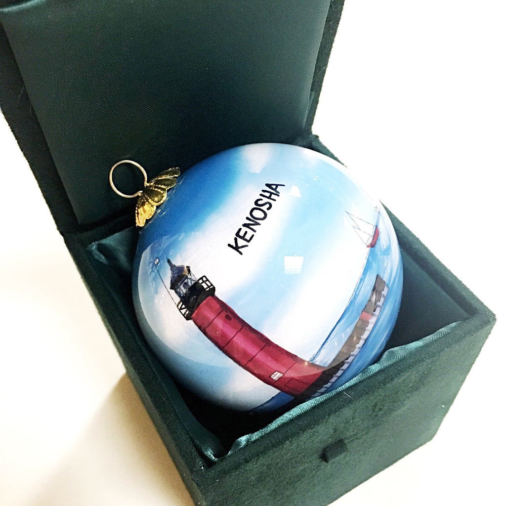 Hand Painted Kenosha Ornament