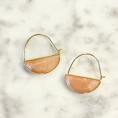 Stone Prism Hoops - Assorted Colors