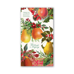 Michel Designs In a Pear Tree Hostess Napkin