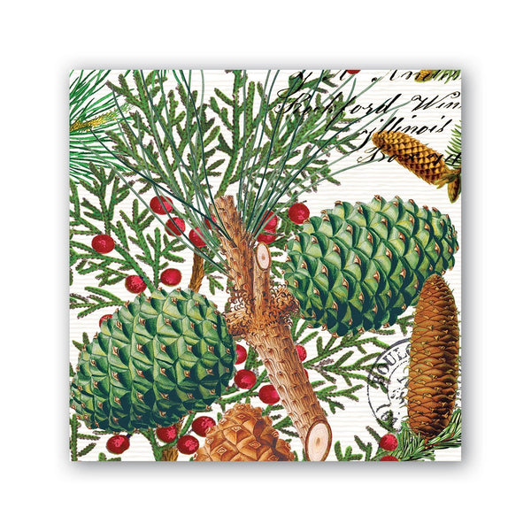 Michel Designs Spruce Cocktail Napkins