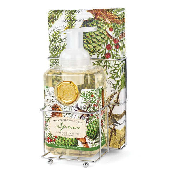 Michel Designs Spruce Foaming Hand Soap Napkin Set