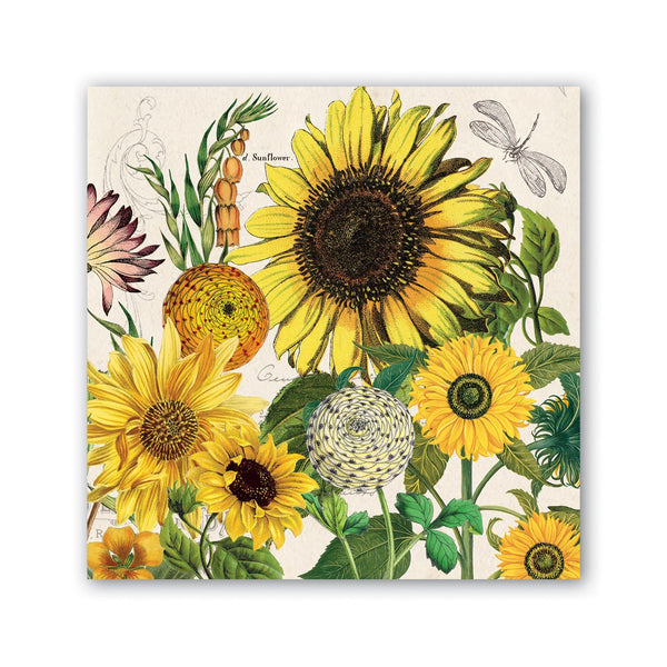 Michel Designs Sunflower Cocktail Napkin
