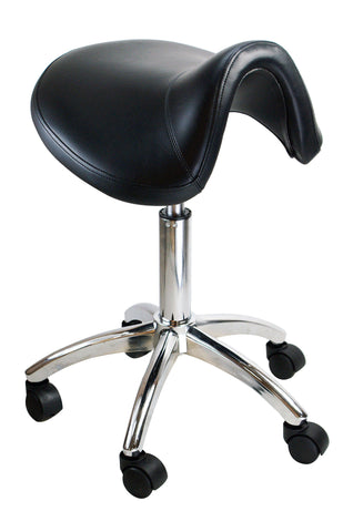 Image of Adjustable Salon Swivel Saddle Styling Stool Styling Stool SalonPro Equipment