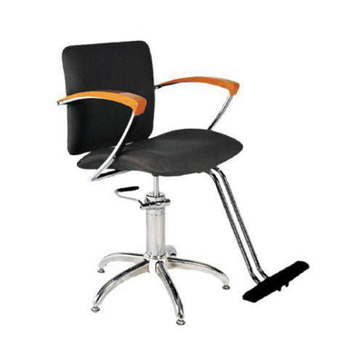 Ikonna Professional Hair Styling Chair in Black w/ Star Base