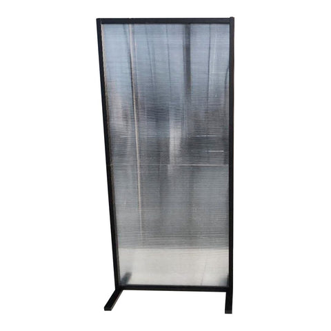 Image of SalonPro 6' x 3' Social Distancing Polycarbonate & Aluminum Privacy Screen Partition Freestanding Divider for COVID-19 Screen Divider SalonPro Equipment
