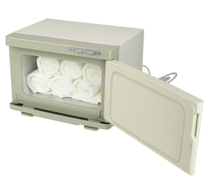 SalonPro UV Mini Towel Warmer Cabinet in White