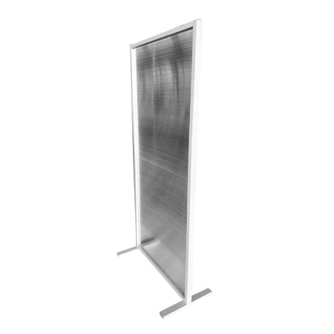 SalonPro 6' x 3' Social Distancing Polycarbonate & Aluminum Privacy Screen Partition Freestanding Divider for COVID-19 Screen Divider SalonPro Equipment