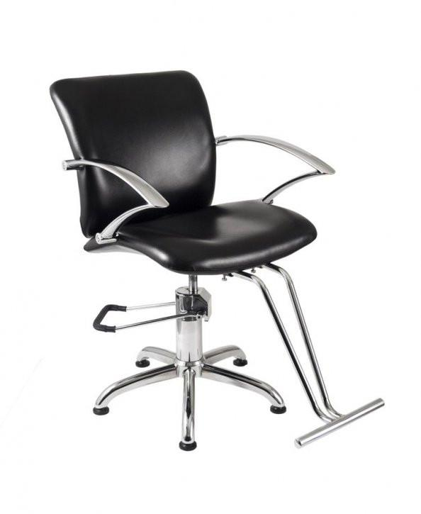 Ikonna Professional Hair Styling Chair Black w/ Star Base Styling Chair YCC