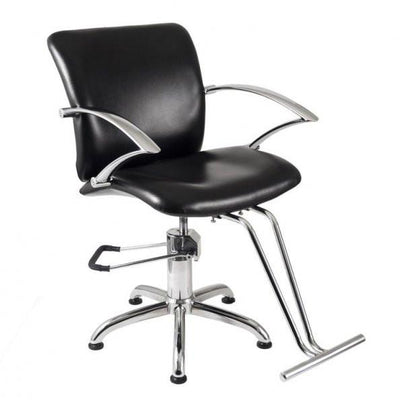 Ikonna Professional Hair Styling Chair Black w/ Star Base