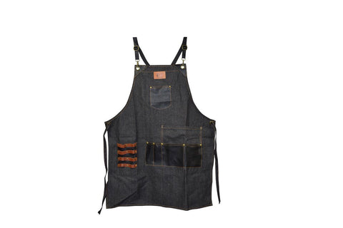 Image of Premium Quality Denim Salon Barber Styling Apron Styling Apron SalonPro Equipment
