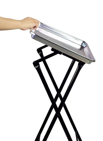 SalonPro Folding Aluminum Rolling Styling Service Tray Styling Trolley SalonPro Equipment
