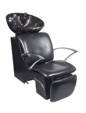 Ikonna Professional Shampoo Unit w/ Black Chair & Bowl Shampoo Unit YCC