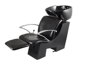 Ikonna Professional Shampoo Unit w/ Black Chair & Bowl