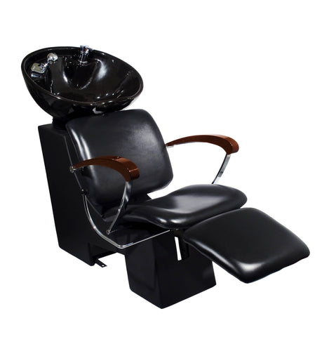 Image of Ikonna Professional Shampoo Unit w/ Black Chair & Bowl Shampoo Unit YCC